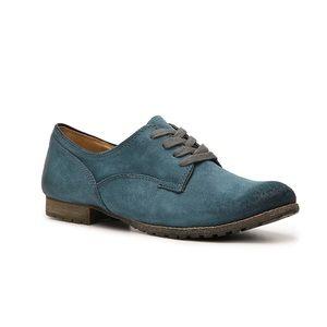 Naya Tiber Oxford Blue Suede Flat